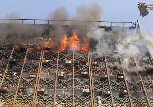 آتش سوزی ساختمان
