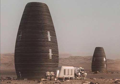 ساخت خانه مریخی بدون نیاز به مصالح زمینی