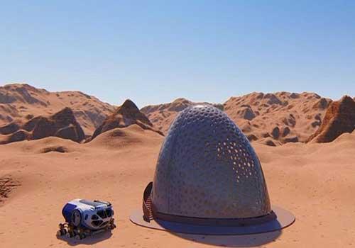 مسکن مریخی با گلخانه مخصوص پرورش محصولات غذایی