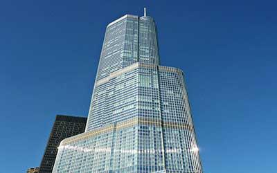 هتل بین المللی و برج ترامپ در شیکاگو
