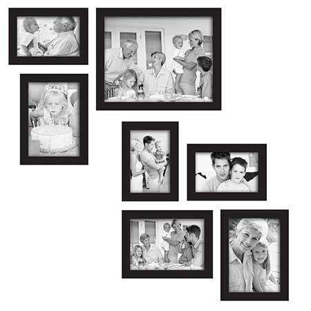 ایدههایی برای چیدمان جذاب قاب عکسها روی دیوار