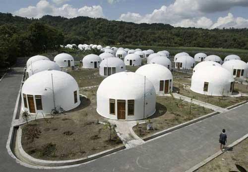 خانههای گنبدی شکل ضد زلزله