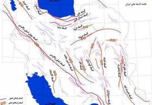 نقشه گسل های ایران