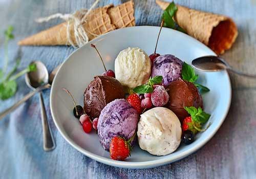 دسر بستنی