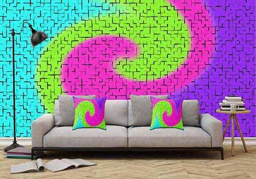 کاغذ دیواری متناسب با مبل