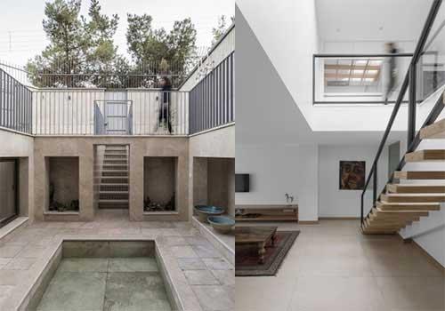 حیاط خانه مربع