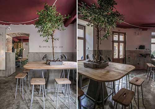 طراحی دکوراسیون کافه