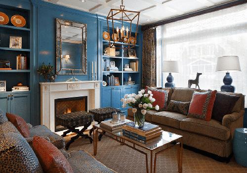 بهترین اتاقهای نشمین با دکوراسیون آبی