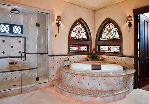 استین گلاس در حمام