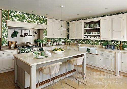 کاغذ دیواری طرح دار آشپزخانه