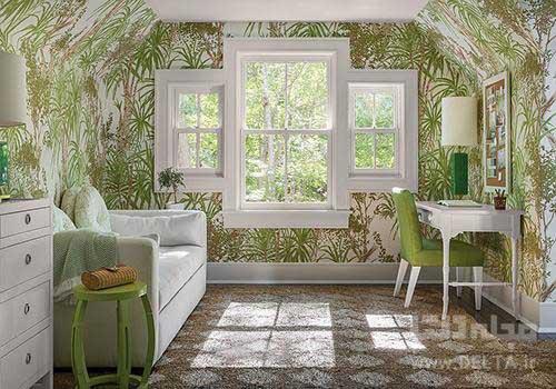 کاغذ دیواری طرح دار اتاق