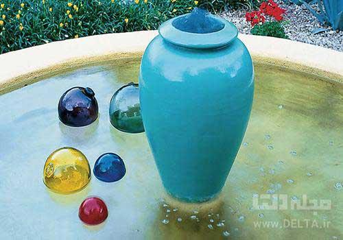 قرار دادن چند حباب در آب نما
