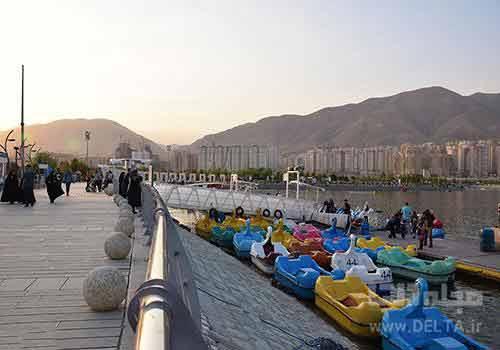 قایق سواری دریاچه چیتگر
