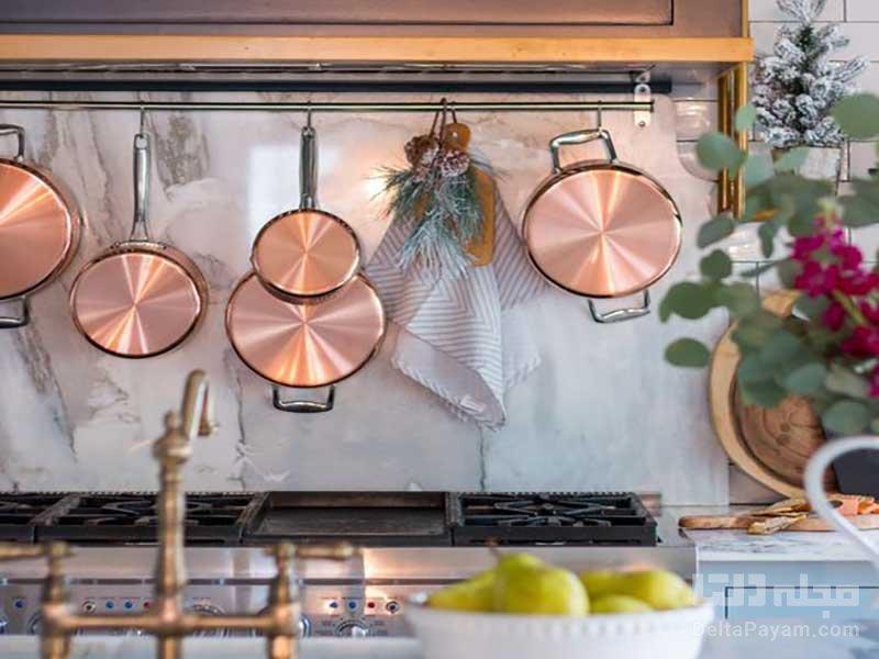 دکوراسیون آشپزخانه با مس