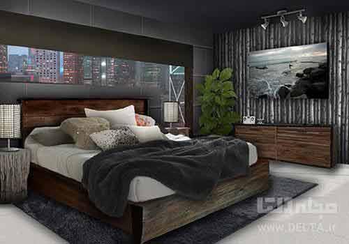 استفاده از گیاه در طراحی دکوراسیون اتاق خواب