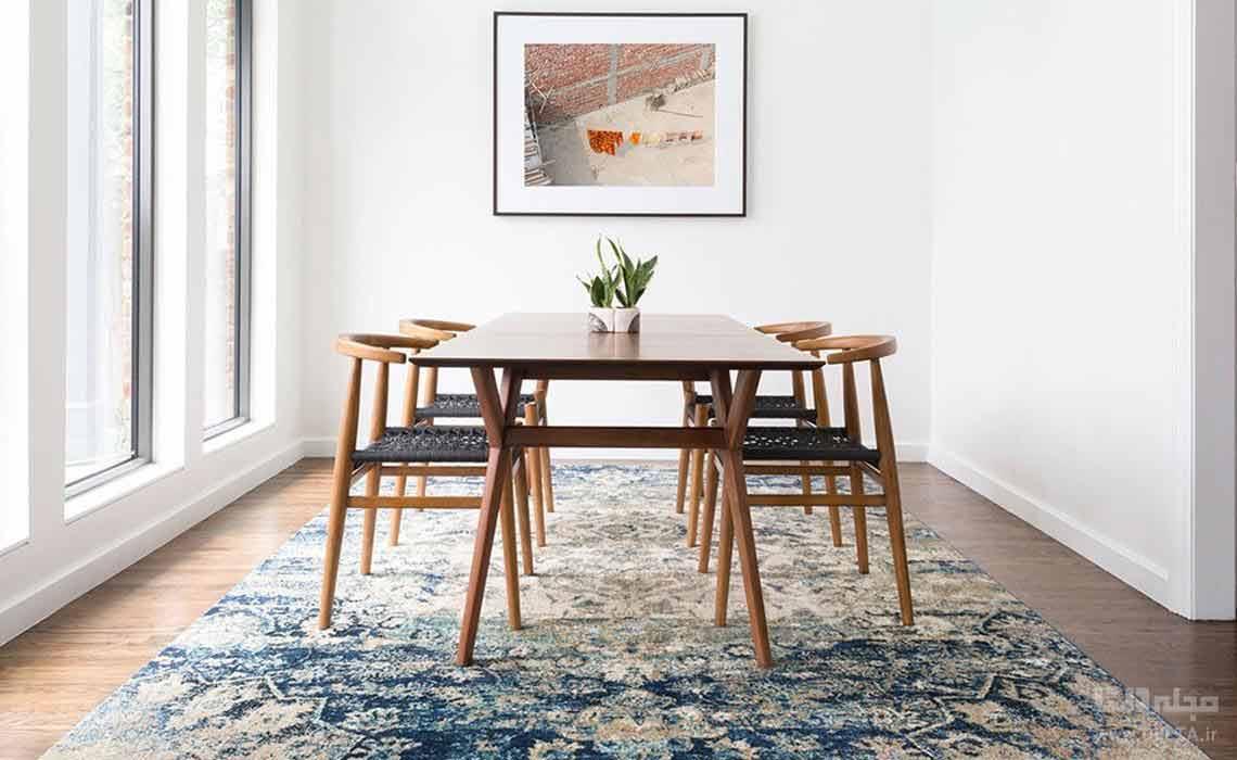 فرش زیر میز ناهار خوری