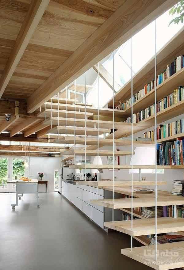 ساخت کتابخانه مدرن