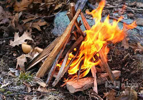روش های روشن کردن آتش در طبیعت