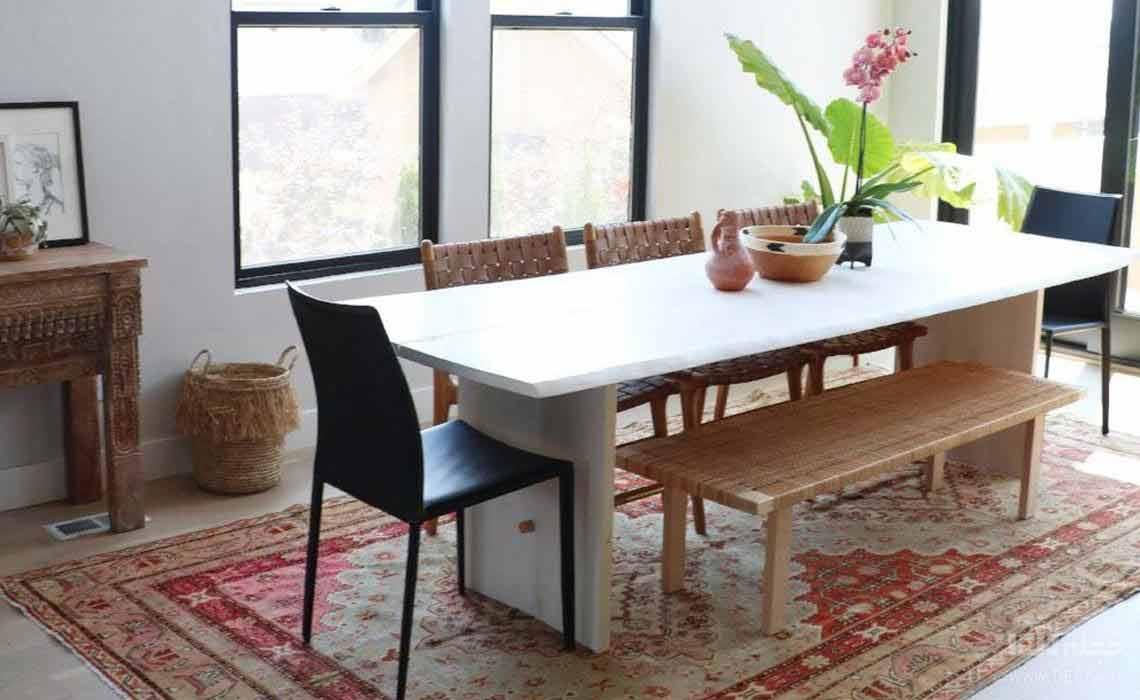 فرش مناسب فرش زیر میز ناهار خوری