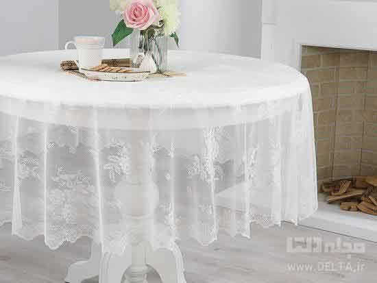 رومیزی میز گرد
