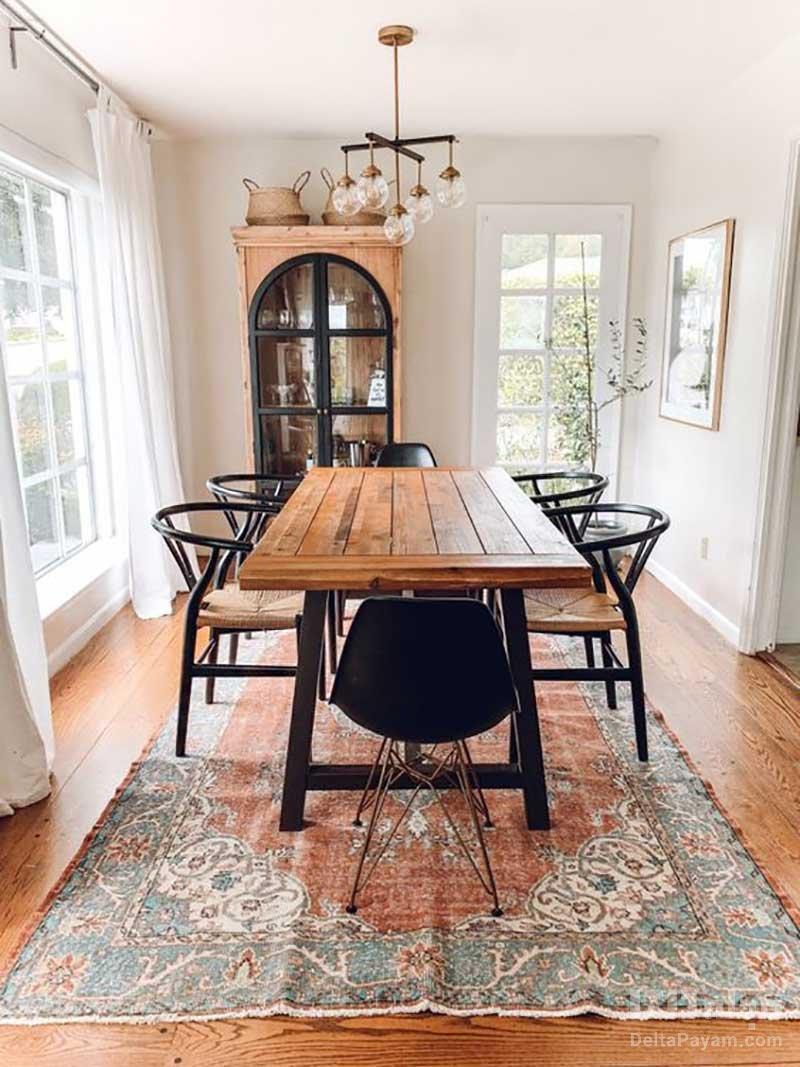 فرش مناسب میز ناهارخوری