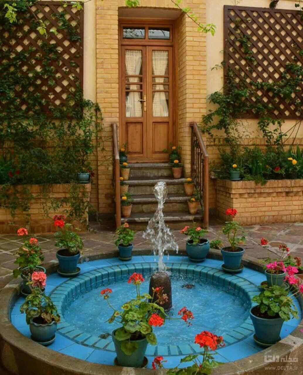حیاط خانه ایرانی