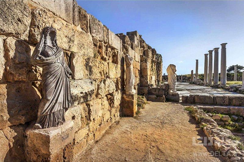 منطقه باستانی سلامیس جاهای دیدنی قبرس