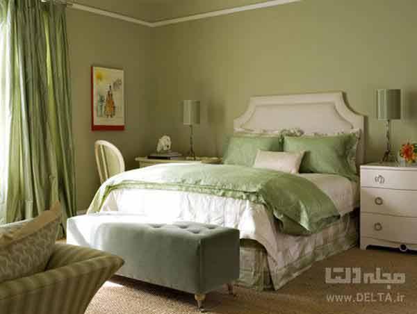نور سبز در اتاق خواب
