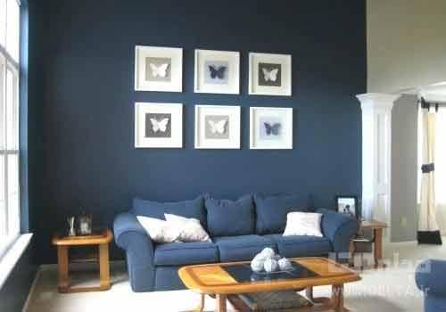 رنگ قهوه ای با آبی در دکوراسیون منزل