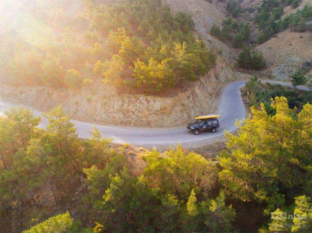 جاده مرزن آباد دریاچه ولشت
