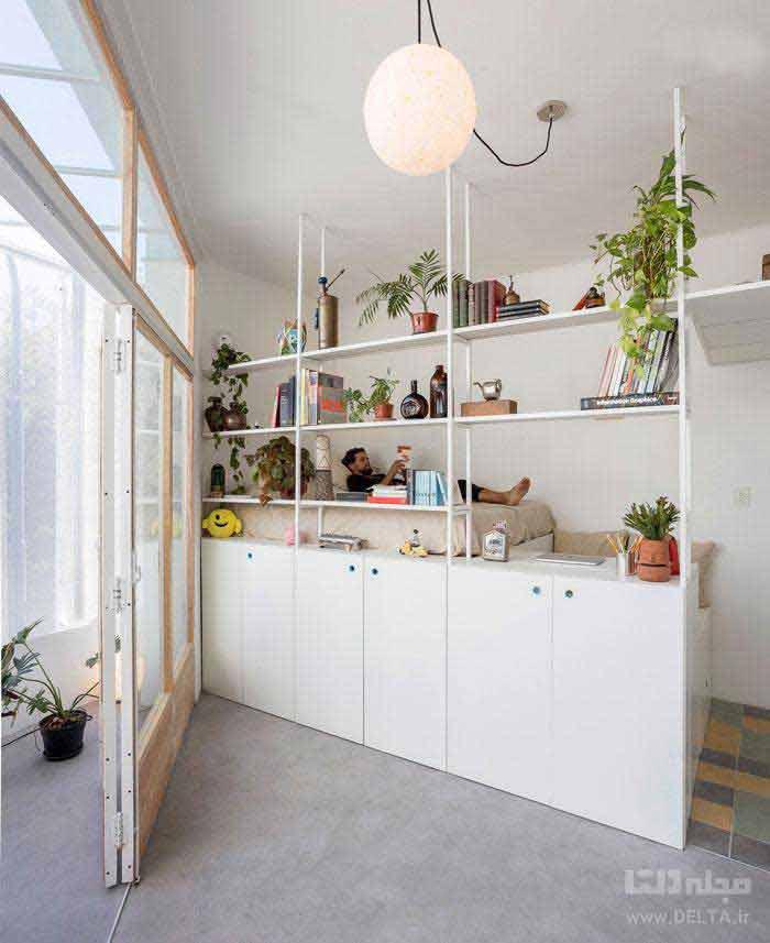 طراحی خانه کوچک فقط در ۱۸ مترمربع
