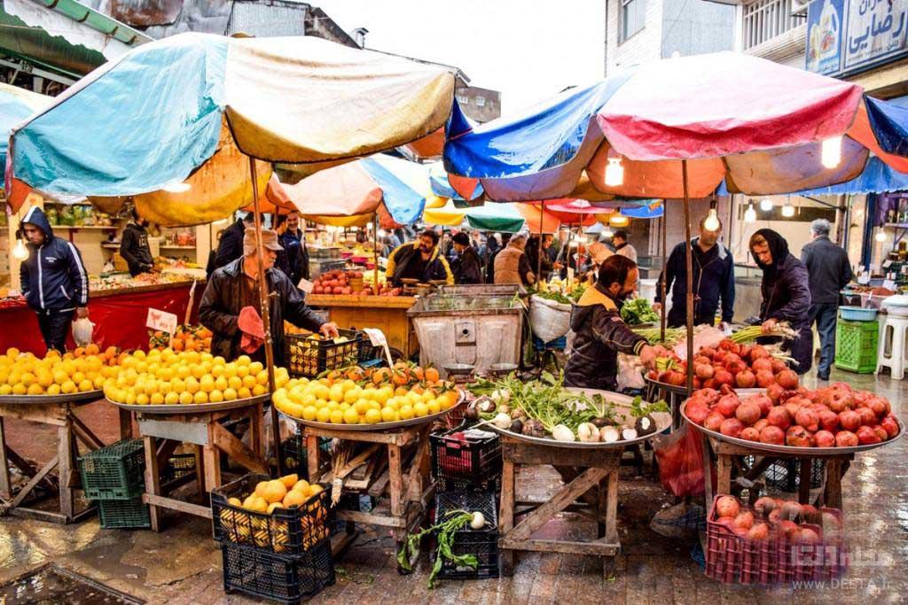 بازار روز رشت ایران