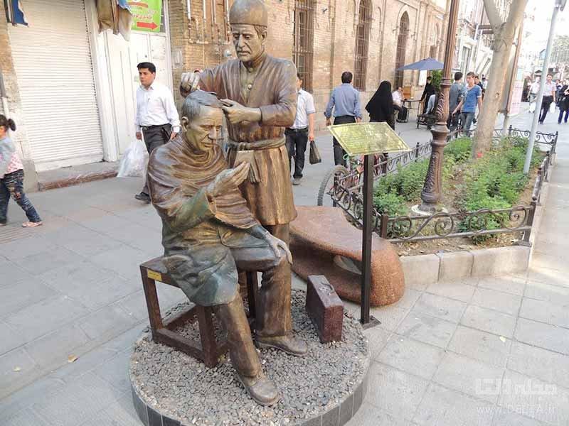 مجسمههای دیدنی خیابان تربیت تبریز