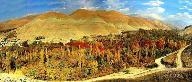 جاهای دیدنی تهران روستای برغان