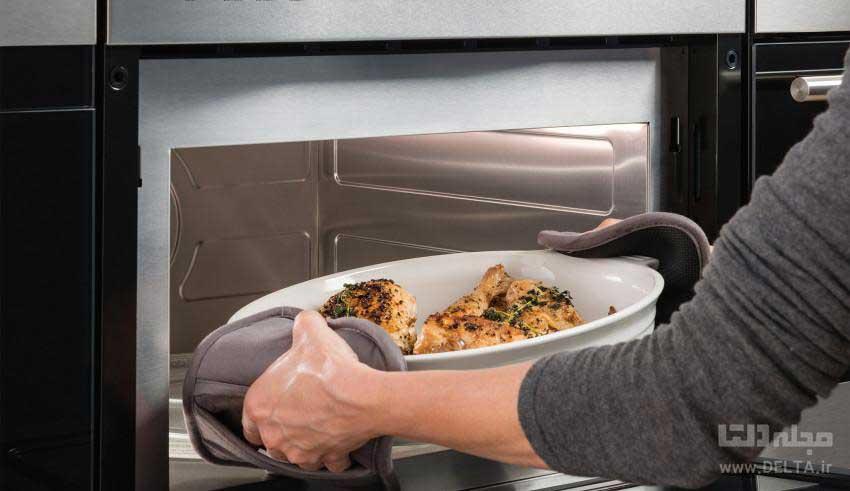 گرم کردن غذا با مایکروویو