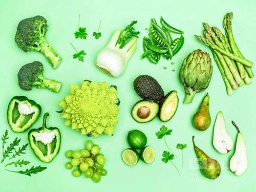 خوراكي سبز رنگ