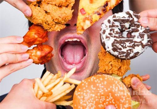 علت گرسنگي بدن