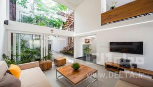 حیاط هماهنگ با معماری داخلی