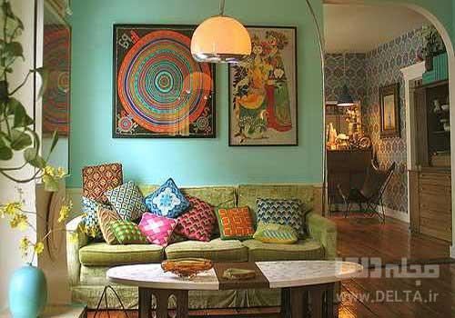 طراحي داخلي خانه به سبك بوهمي