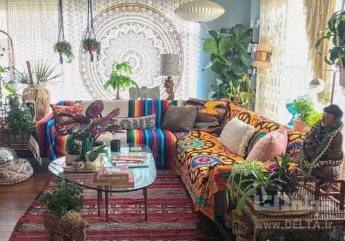 طراحی داخلی خانه به سبک بوهمی