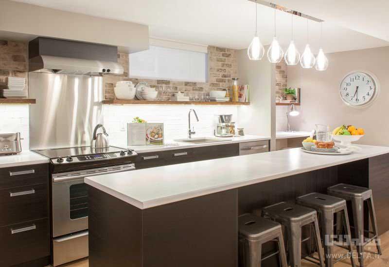 نورپردازي در آشپزخانه