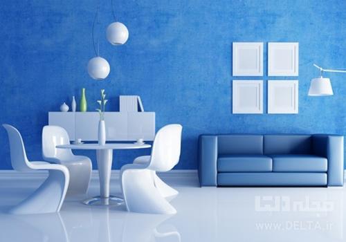 طراحی داخلی آبی
