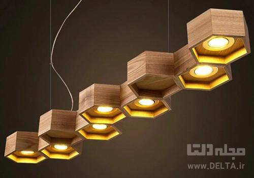 لوستر چوبی در طراحی داخلی