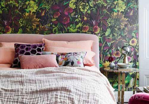 تركيب رنگ بهاري در دكوراسيون اتاق خواب