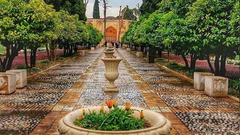 باغ جهان نما جاذبه های گردشگری شیراز