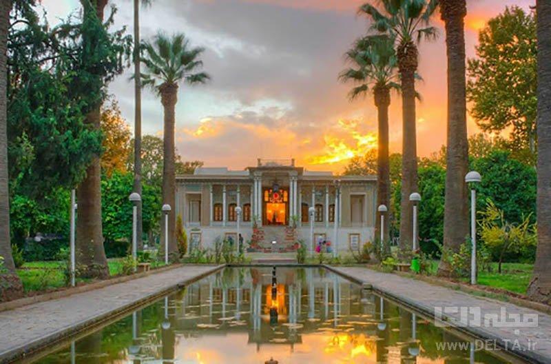 باغ عفیف آباد جاذبه های گردشگری شیراز