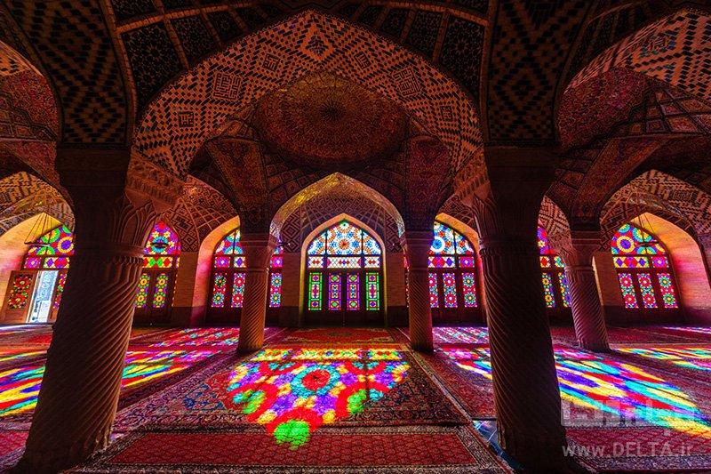 مسجد نصیرالملک جاذبه های گردشگری شیراز