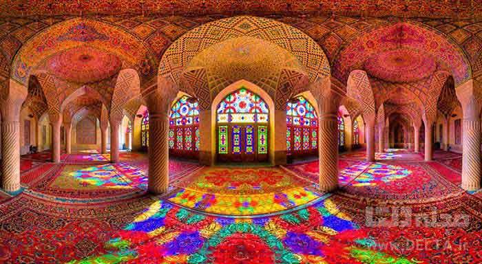 مسجد نصیرالملک مسجد صورتی شیراز
