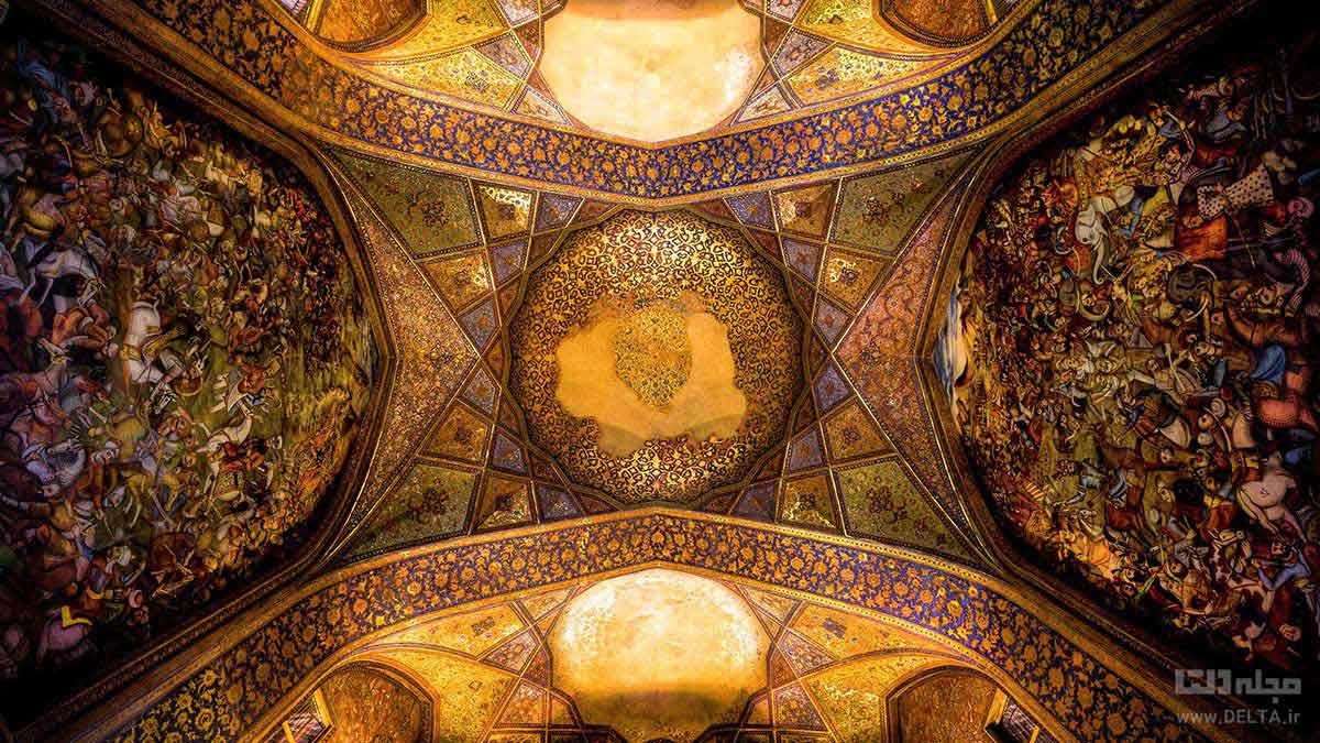 نقاشی های سقف تالار چهل ستون