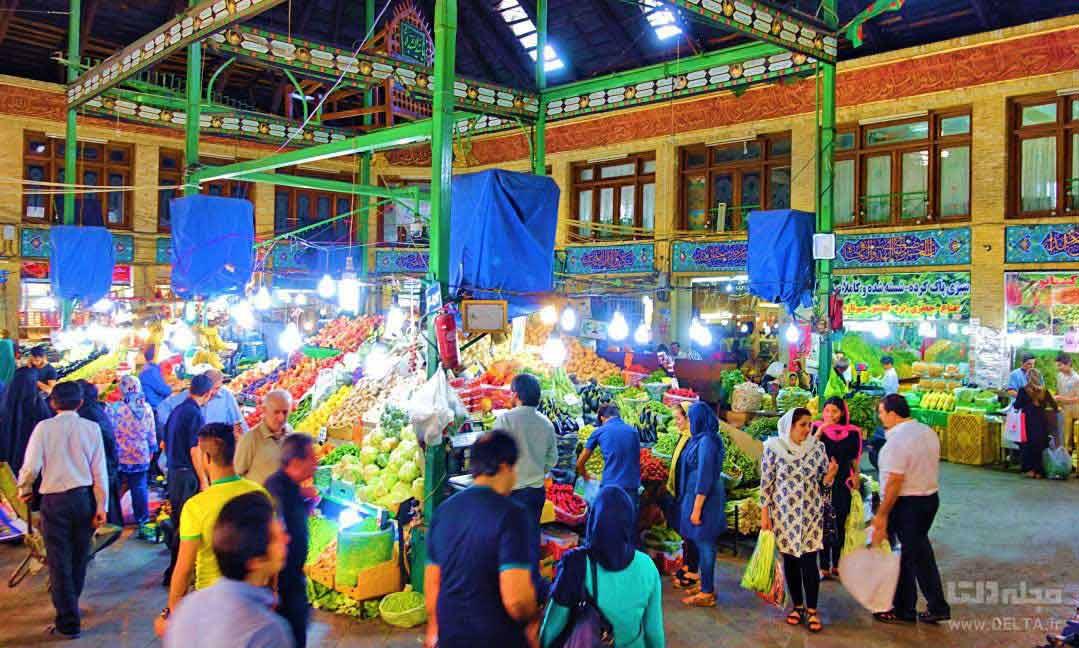 زندگی شبانه بازار تجریش Tajrish Bazaar